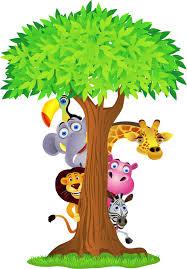 stickers jungle chambre bébé sticker enfant animaux de la jungle 2639 stickers muraux enfant