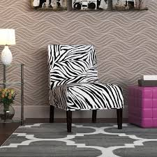 Zebra Accent Chair Aberly Zebra Pattern Accent Chair Free Shipping Today
