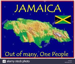 Map Jamaica Jamaica Map Flag Motto Stock Vector Art U0026 Illustration Vector