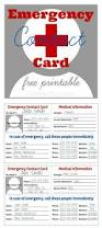 emergency contact card free printable gifts we use household