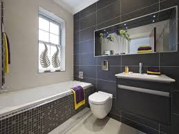 Black White And Gray Bathroom Ideas - grey bathrooms ideas brown finish stained wooden open cabinet