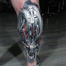 biomechanical tattoo for knee robo armor biomechanical tattoo on leg best tattoo ideas gallery