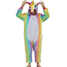 Rainbow Halloween Costume Aliexpress Buy Rainbow Unicorn Onesies Pajamas