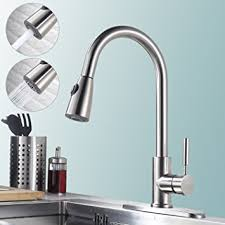 gooseneck faucet kitchen homelody stainless steel pull kitchen faucet with sprayer