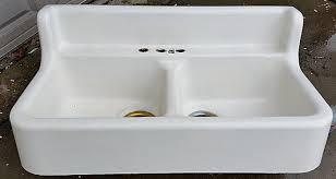 antique farmhouse sink cast iron antique cast iron farm farmhouse vintage kitchen sink dbl basins