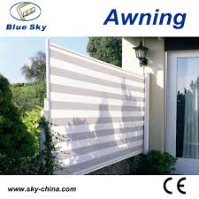 Side Awnings Outdoor Retractable Wind Screen Side Awning Screen For Balcony Uv