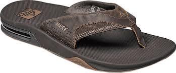 mens reef fanning flip flops sale mens reef fanning leather thong sandal free shipping exchanges