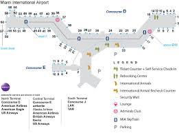 miami airport terminal map getting to miami
