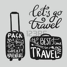 travel quote Travel inspiration quotes on suitcase silhouette