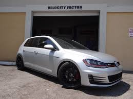 black volkswagen gti velocity factor 2015 vw gti mkvii mk7 stage 2 performance kit