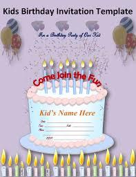 kids birthday invitation card images invitation design ideas