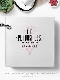 design logo elegant ready made pet business logo elegant 6 sniff design basics