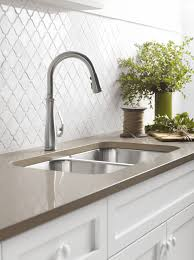 Traditional Kitchen Faucet Decorating Omicron Granite Countertop With Kohler Sinks And Graff