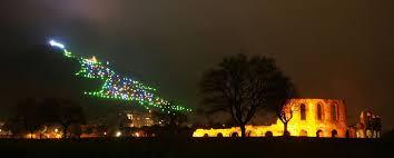 Singing Christmas Tree Lights Mount Ingino Christmas Tree Wikipedia
