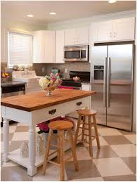 White Kitchen Island With Natural Top Kitchen Island Small Kitchen Island Or Table Marston Butcher