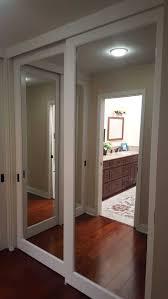 Mirror Closet Door Repair Best Mirror Closet Doors Trends With Enchanting Sliding Mirrored