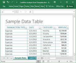 Flow Analysis Excel Template Cashflow Analysis Excel Template