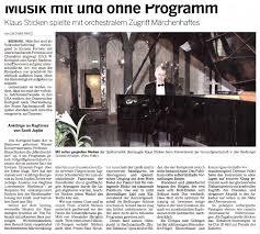 K Hen In U Form G Stig Presseberichte Bedburger Konzertgesellschafts Webseite