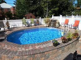 Inground Pool Ideas Semi Inground Pool Ideas U2014 Completing Your Home Best Semi