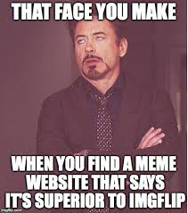 How To Make A Meme Website - face you make robert downey jr meme imgflip