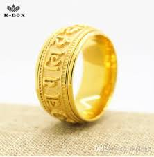 10mm ring 2017 10mm om padme hum rings for men women 18k gold plated