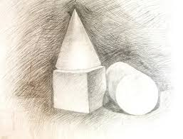 cone cube the cylinder drawing academic stock photography