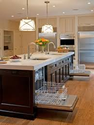 kitchen islands with dishwasher island dishwasher houzz