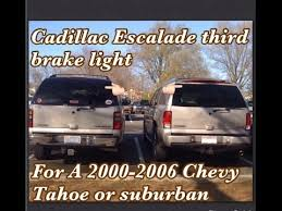 2005 gmc yukon xl third brake light how remove cadillac escalade rear hatch with third brake light youtube