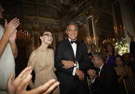 george clooney wedding george clooney wedding pictures with amal alamuddin popsugar