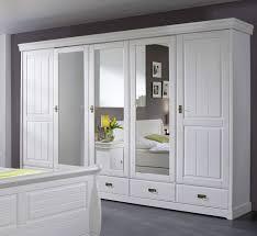 Schlafzimmerschrank Reinigen Schrank 5 Türen Kiefer Weiß Gewachst Mailand