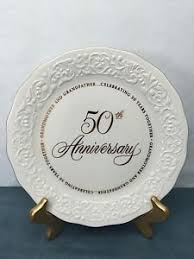 anniversary plates 50th anniversary 50th anniversary plate grandmother grandfather fifty fifth