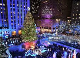 rockefeller center tree stock photos and pictures