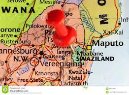 Swaziland Map Mbabane Capital City Of Swaziland Stock Photo Image 89014384
