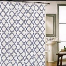 Cynthia Rowley Drapery Blue Yellow Shower Curtain Foter
