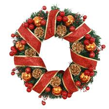 compare prices on christmas wreath red ribbon online shopping buy