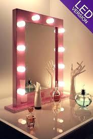 vanity hollywood lighted mirror wonderful hollywood lighted vanity mirror full image for pink makeup