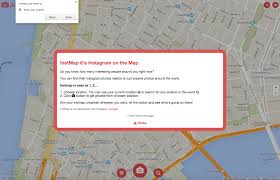 Instagram Map Instmap U0027 Is An Interactive Map Of Instagram Posts Around You