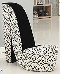 High Heel Shoe Chair Ore Chair With Storage High Heel Design And Black