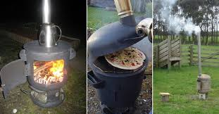 diy portable wood fired pizza oven and patio heater home design