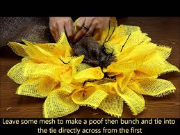 burlap sunflower wreath sunflower yellow paper mesh