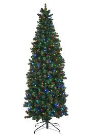 slim christmas tree with led colored lights multi color led artificial christmas trees