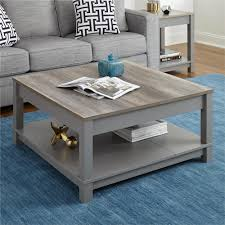oak end tables and coffee tables altra furniture carver gray sonoma oak coffee table 5047096com