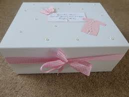 wooden baby keepsake box personalised memory box new baby keepsake box pink blue boy girl
