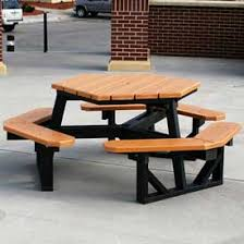 round plastic picnic table picnic tables plastic recycled plastic www globalindustrial ca
