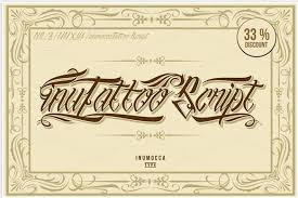 complete collection of 80 free and premium tattoo fonts