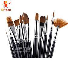 make up artist supplies 12pcs paint brushes professional hair paint brush set