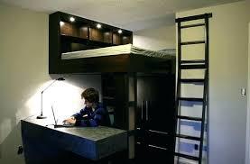 lit surélevé avec bureau lit mezzanine avec bureau lit mezzanine bois blanc 2 places