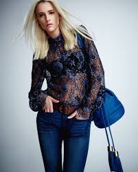 cynthia rowley blouse cynthia rowley lace high neck blouse in blue lyst
