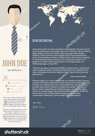 modern cover letter resume cv template stock vector 387116083