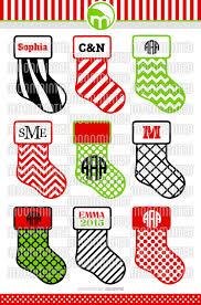 christmas stocking svg cut files monogram frames for vinyl